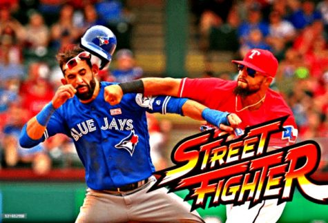 Bautista bombed: in the face