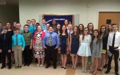 Middle school students inducted into Honor Society