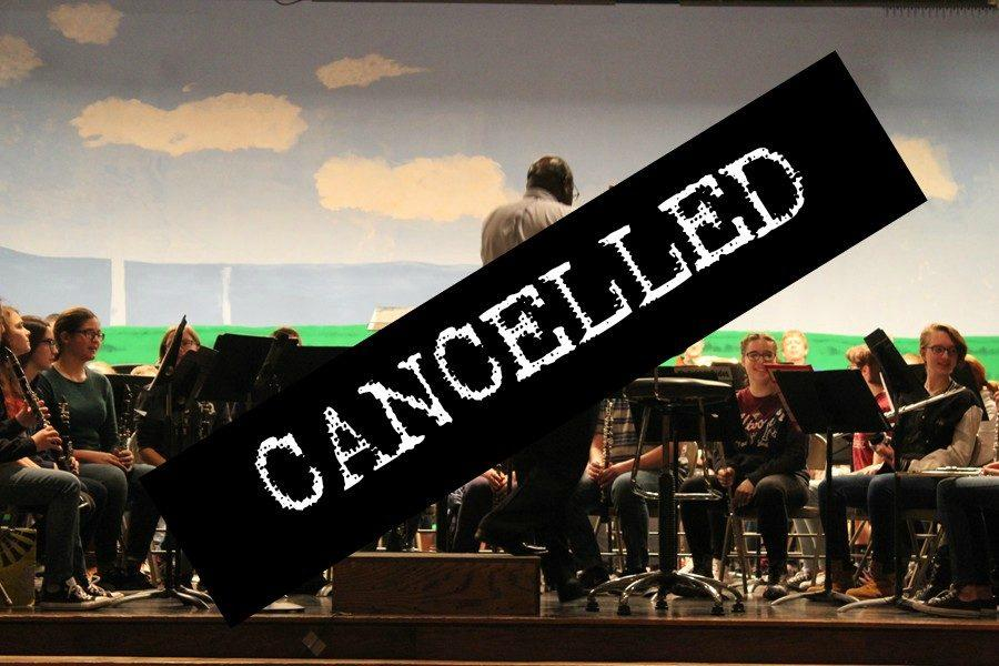 Junior+High+County+Band+was+cancelled+yesterday+due+to+the+dangerous+weather+conditions+brought+on+by+a+winter+storm.