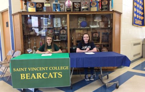 Senior girls commit to college