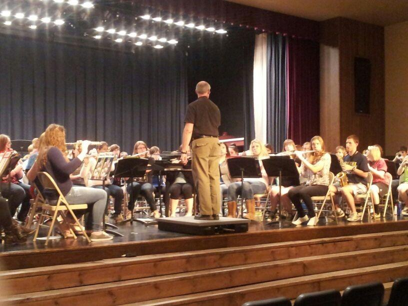 Bellwood antis plays host to county band the blueprint mr arthur belfoire director of bands at mifflin county high school works with malvernweather Gallery