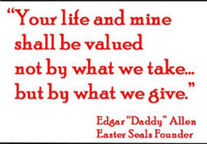 Easter Seals Quote