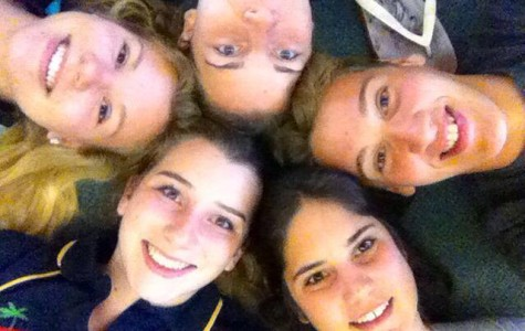 Alyssa Wombacher, top left, is currently studying abroad in Australia.