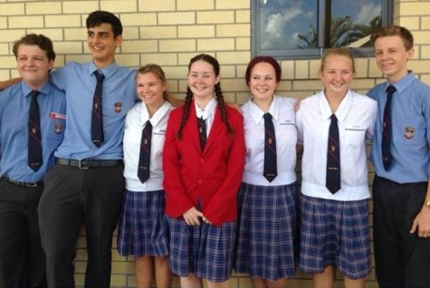 B-A junior Alyssa Wombacher, third from left, has spent the last school year studying abroad in Australia as part of the Rotary Club Foreign Exchange Program.