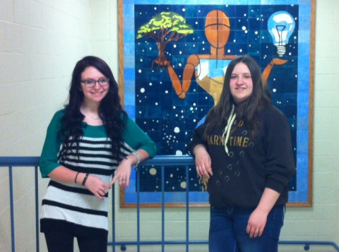 Miranda Lowery (left) is the salutatorian for the Class of 2014 while Angela Wheeler (right) earned the title of valedictorian.