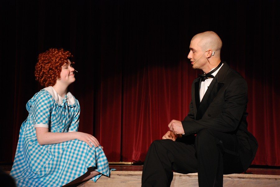 Freshman Grace Misera and senior Casey Gray are two of the stars of the Bellwood-Antis musical Annie, which opens May 6.