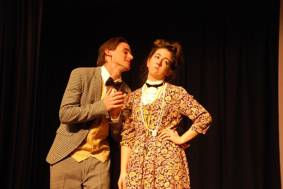 Seniors Owen Worthing and Katelyn Shaulis play two very big roles in the Bellwood-Antis production of Annie.