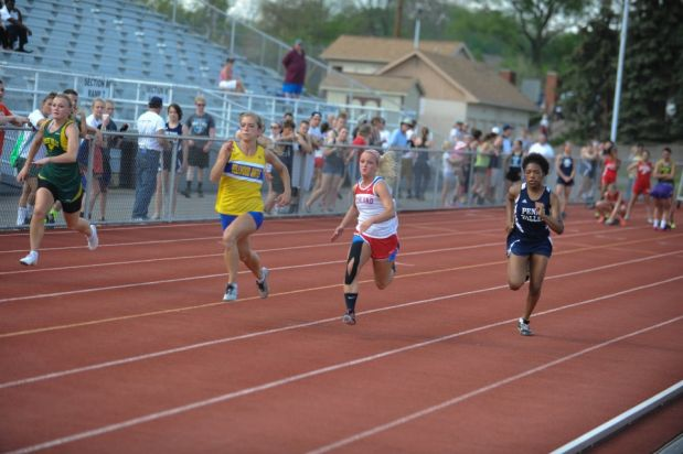 Baily Swogger, running in her first 100 meters heat from Day 1 of the District 6-AA championships, qualified for the state track and field meet in two events.