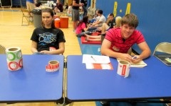 Brooke Cmar and Jake Stapleton were student volunteers at the most recent Blood Drive sponsored by the Leo Club at Bellwood-Antis High School.