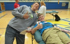Nick Perry and Justin Gunsallus were among the many Bellwood-Antis students to donate blood at last spring's blood mobile.