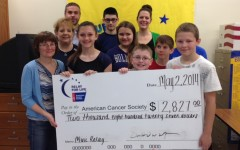 National Junior Honor Society members from the Bellwood-Antis Middle School recently raised over $2,800 for the American Cancer Society.