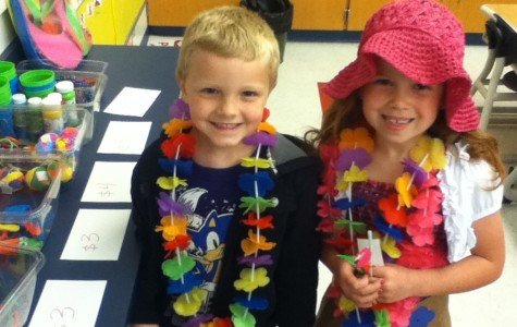 Aiden Johnson and Marissa Cacciotti from Pete Harry's kindergarten class at Myers Elementary had a blast at the virtual trip to Hawaii.  It's a yearly activity that has been a part of the Myers kindergarten experience for three decades.