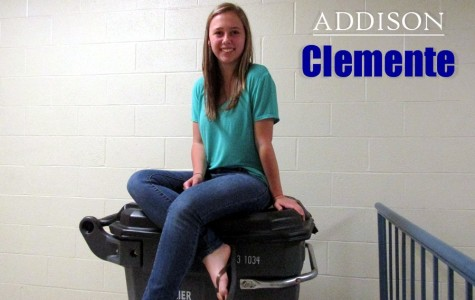 Freshman Addison Clemente goes with the flow and doesn't sweat the little things.