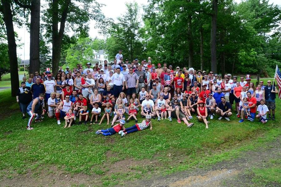 The Freedom Ride group photo from 2013 shows how quickly the ride grew from a fun patriotic activity on July Fourth to a shared community event benefitting local veterans.