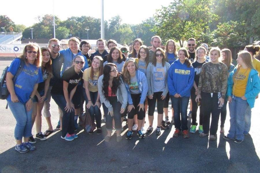 Forty-one Bellwod-Antis Aveidum students were at the Out of the Darkness walk Saturday at Mansion Park.