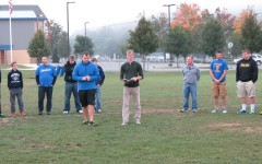 Isaac Mills (left) and Ryan Boslough (right) led Bellwood-Antis students in a prayer service before school this morning.