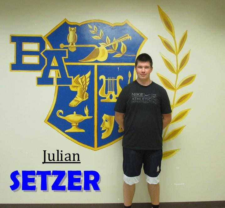 Julian Setzer is visiting Bellwood-Antis as an exchange student from Germany.
