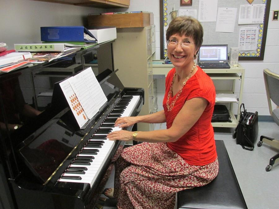 New music teacher Ms. Hull is familiar with the reputation of students at Bellwood-Antis and is excited by the opportunity to teach them music.