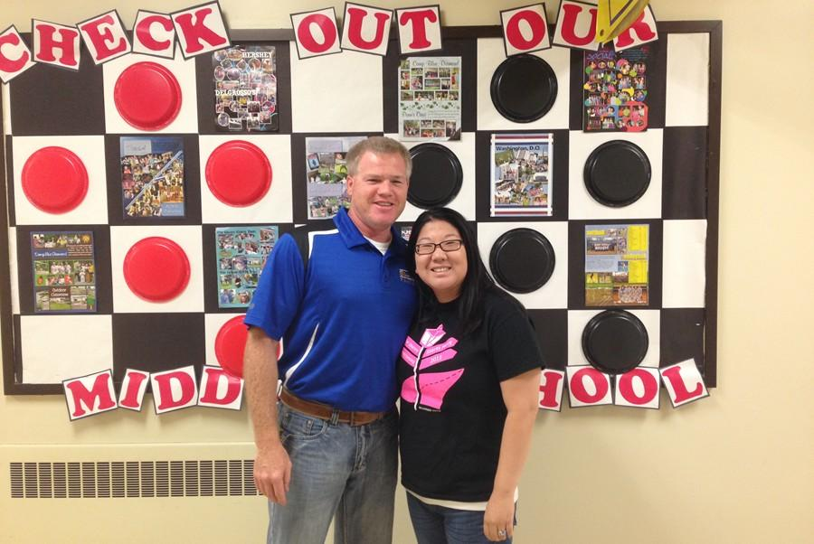 Mr. Partner and Ms. Trostle moved from senior high English to middle school English to start the school year.