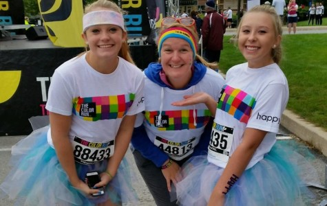 B-A students and alumni race in the Color Run