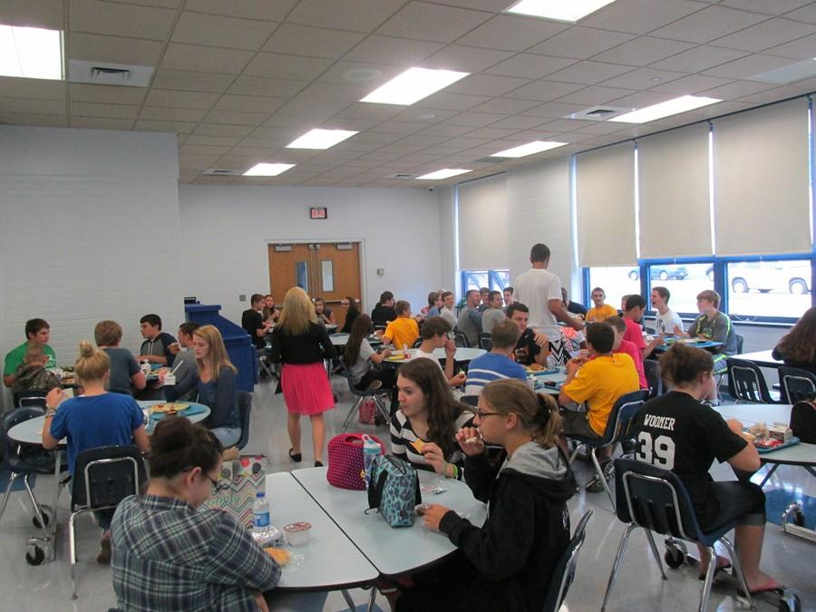 Freshmen eat together every day in third lunch.  It can be a scary and challenging move to go from the middle school to the high school.