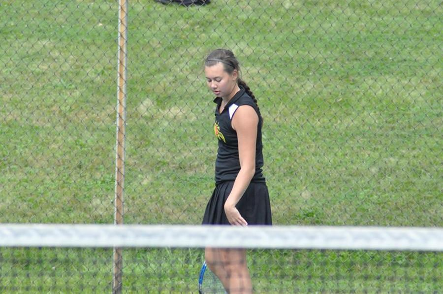 Senior Ana Hollen returned to the tennis team this season after a one-year break.  Shes a big reason the Tyrone/Bellwood-Antis co-op team was able to win the Mountain League championship.