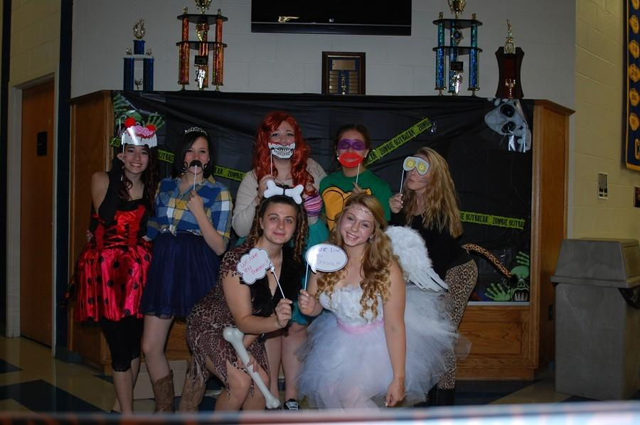 Cheerleaders had a blast at the dance for Dominick DeVecchis.