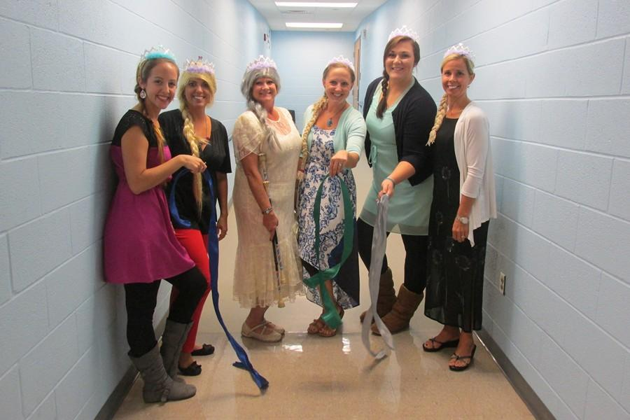 The second grade team at Myers Elementary performed a lip-sync to Let It Go, from the Frozen soundtrack.