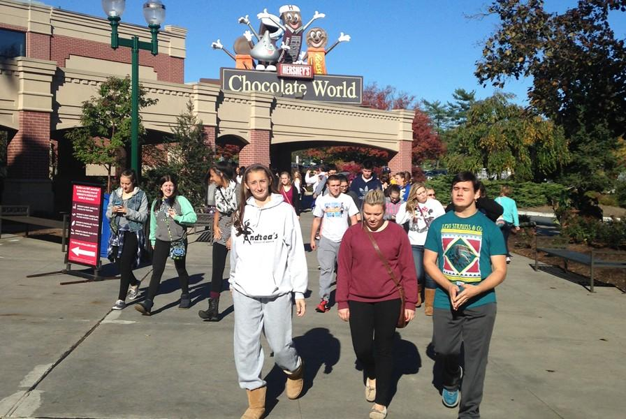 Senior high chorus students made the trip to Hershey Friday to perform at a conference.