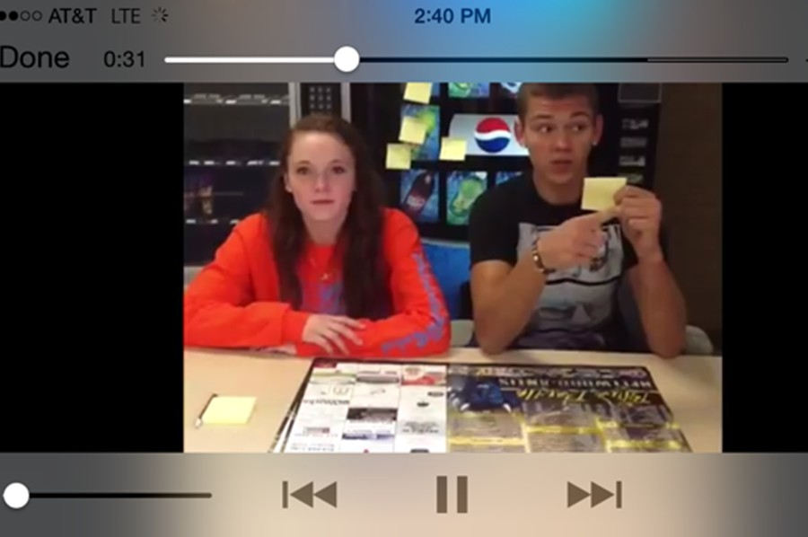 Whether on the classrooms TVs at the end of every Friday, or on their mobile devices through YouTube, Belwood-Antis students are watching Makayla Carles and Dallas Huff do the news and loving it.