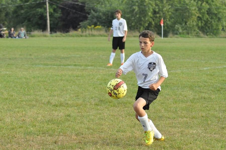 Thanks to the new soccer program, rising stars like Owen Shaulis can now improve their skills while playing against for their school.