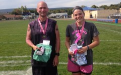 Brian Spiker and Sarah Cox were the winners in the first Hoops for Hopes 5K at Bellwood-Antis.