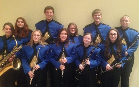 Blue Devil band members perform at County Band