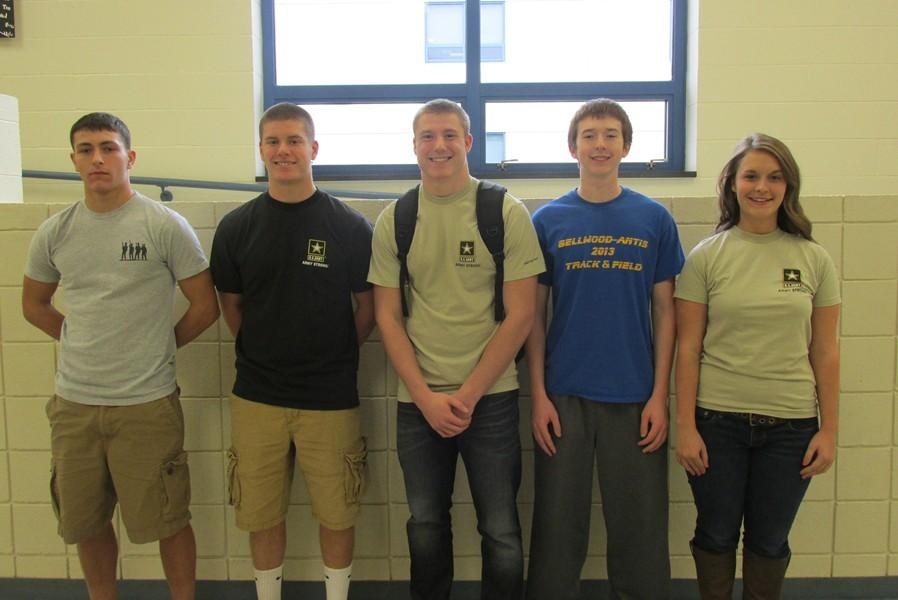 Kyler Lardieri, Tyson Miller, Matt McMillan, Jake Shade and Hannah Cherry are some of the seniors at Bellwood-Antis who have chosen to join the military upon graduation.