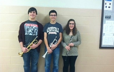 Three band members to play in PMEA District Band
