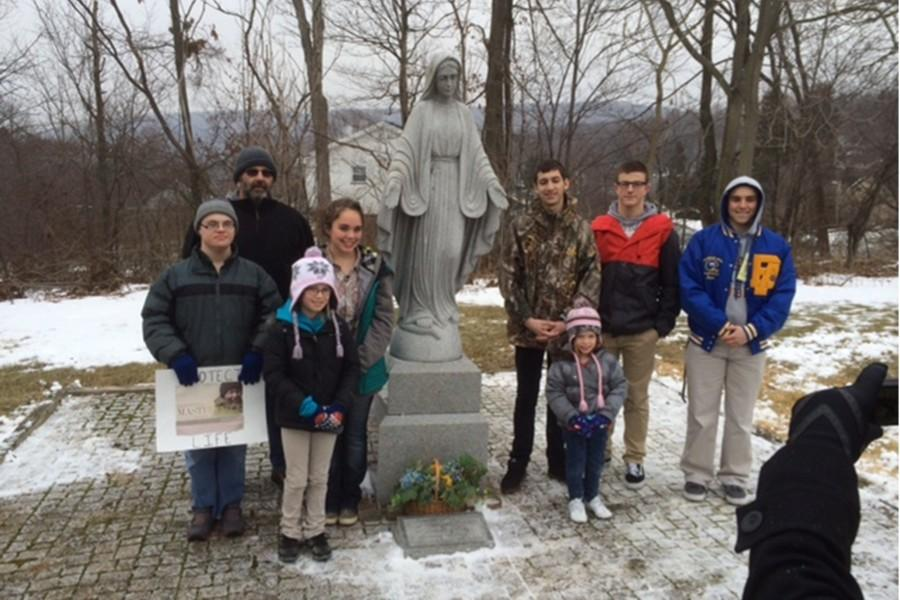 Many Bellwood-Antis students participated in the 28th annual Respect Life March in Tyrone, which culminated at the shrine to baby Agnes Doe in Oak Grove Cemetery.