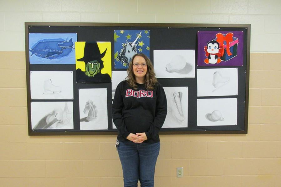 Mrs. McNaul will be taking a break from teaching the art classes she loves when she has her baby in April.