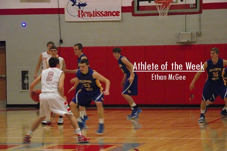 Ethan McGee played a big role in the boys basketball team climbing to the top of the ICC.