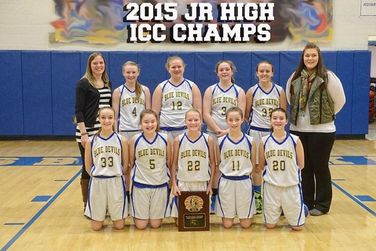 Jr. high girls' basketball team captures ICC Championship