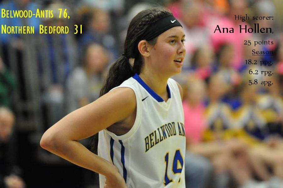 Ana Hollen was typical Ana Hollen in the Lady Blue Devils win over Northern Bedford.