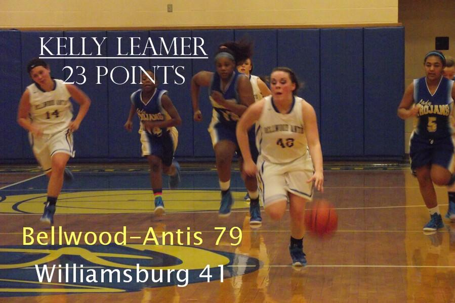 Kelly Leamer and the Lady Blue Devils continued to cruise into the playoffs with a lopsided win last night over Williamsburg.