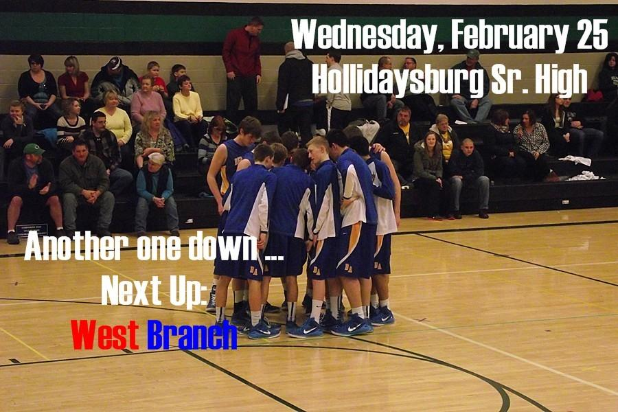 B-A takes on West Branch tonight in the District 6-AA semifinals at the Hollidaysburg Senior High.
