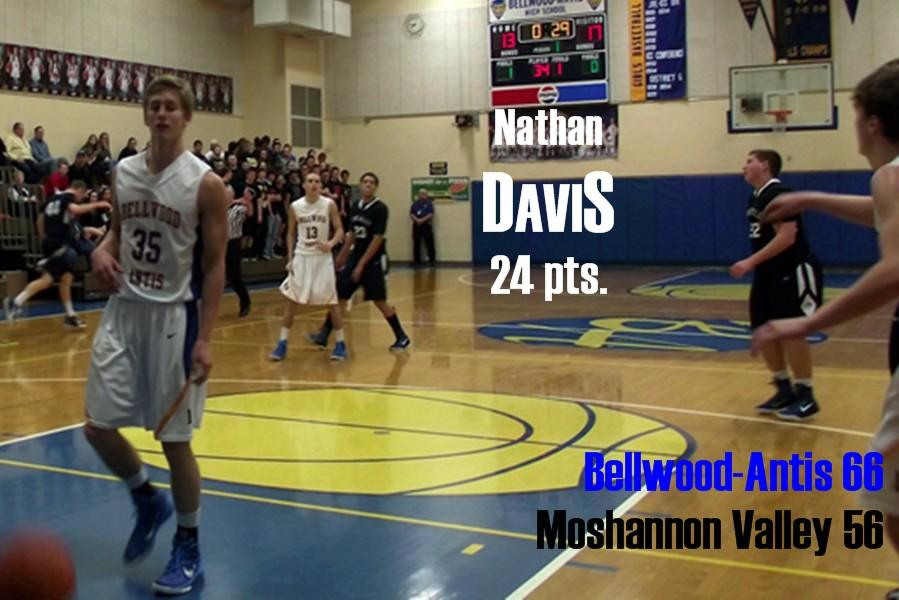Nathan Davis ripped Mo Valley for 24 points as the Devils won in a sloppy game.