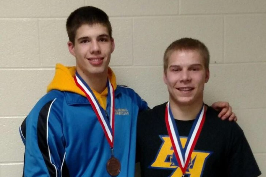 Jeremy Wilson at 182 and Zach Mock at 170 advanced to the Southwest Regional wresting tournament.