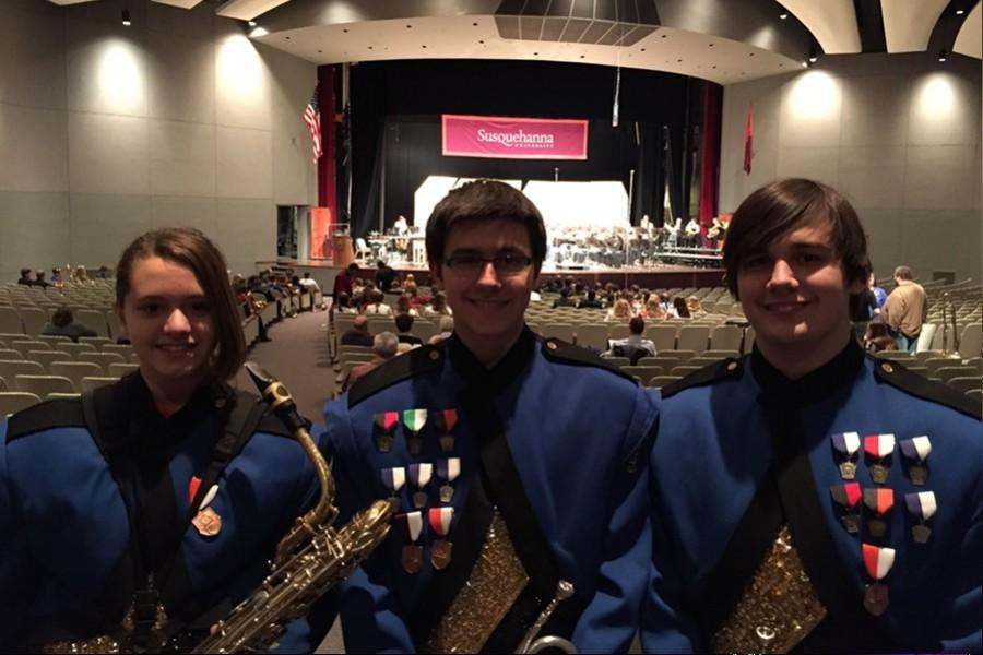 Katie Hamer, Curt Messner and Revel Southwell were selected to play last week at the Susquehanna Honors Band Festival.