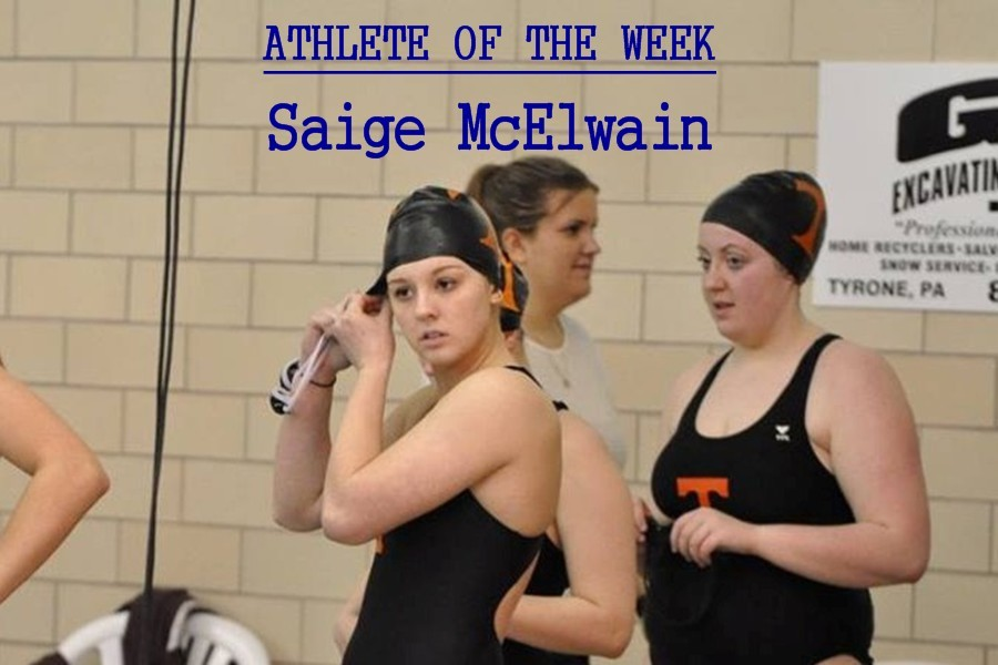 Sophomore+Saige+McElwain+is+one+of+several+B-A+athletes+who+compete+for+the+Tyrone%2FBellwood-Antis+co-op+swimming+team.