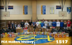FCA members collected cereal boxes in record numbers to donate to the St. Vincent DePaul food pantry.