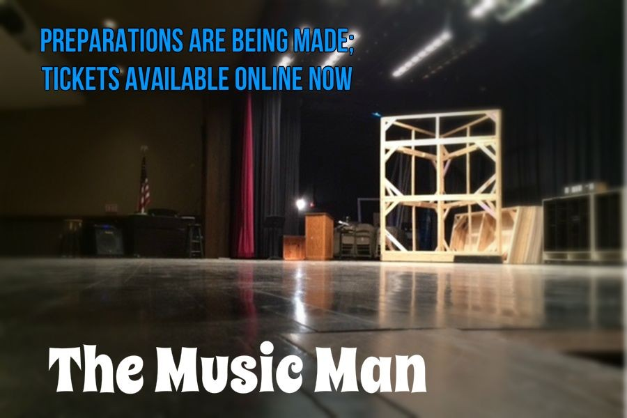 Sets are being built for this years musical The Music Man, and daily practices will be starting soon.