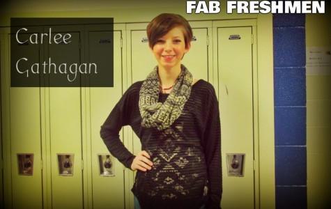 Carlee Gathagan is the stylish kid in the freshman class.