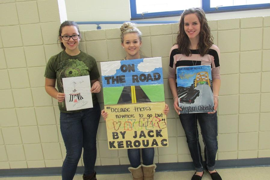 Hannah Hornberger, Phoebe Potter and Meghan Claar were the winners in the English Departments contest to redesign your favorite book cover.